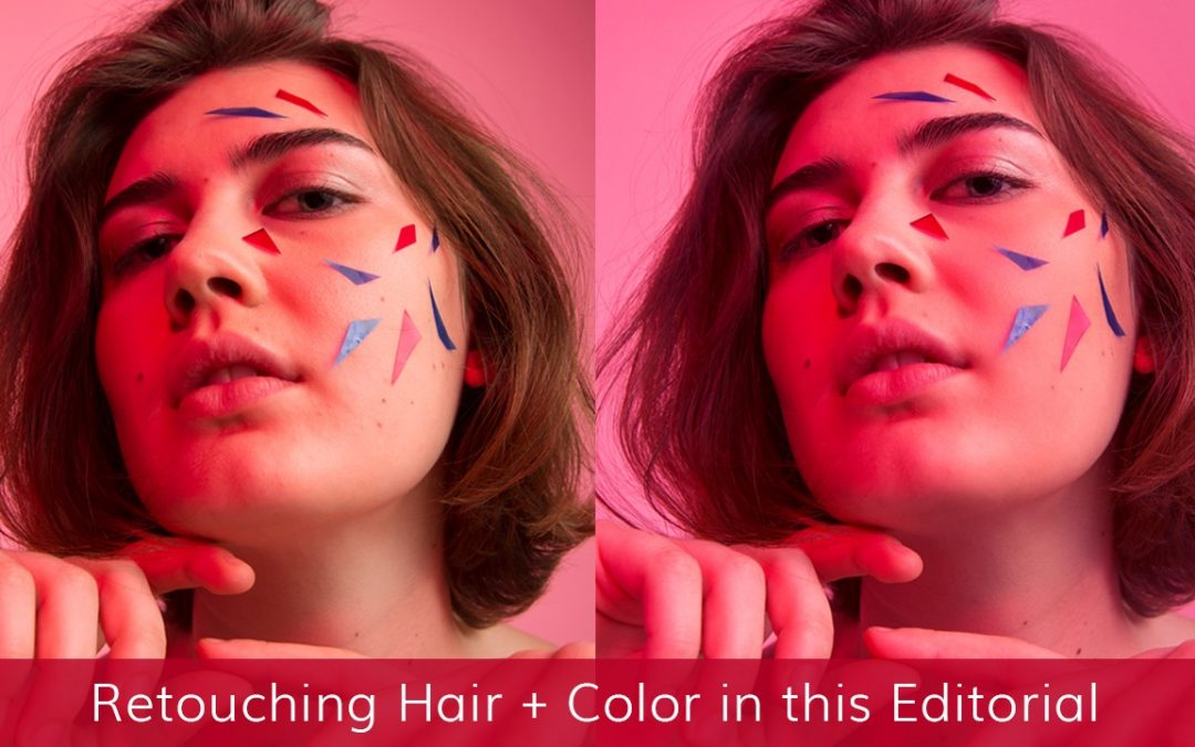 How I Retouched Hair & Color in this Editorial