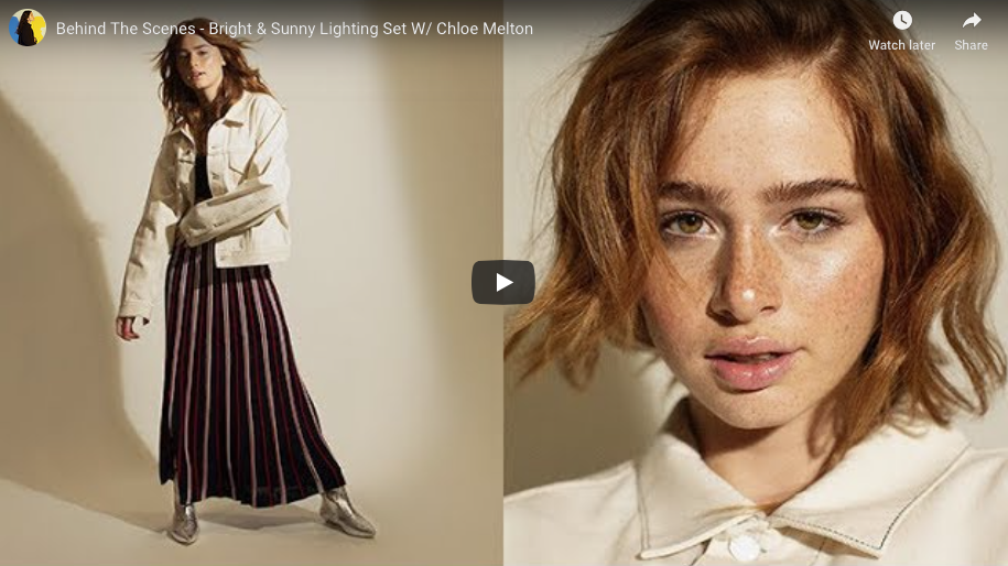 Behind The Scenes – Bright & Sunny Lighting Set W/ Chloe Melton